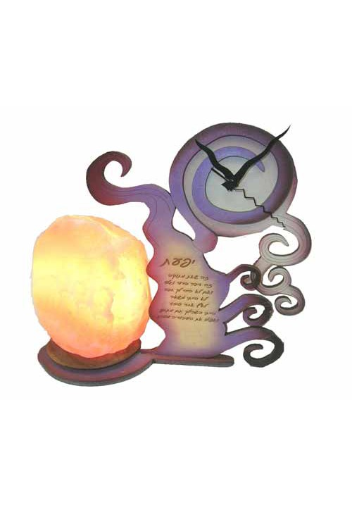 Salt Lamp with clock